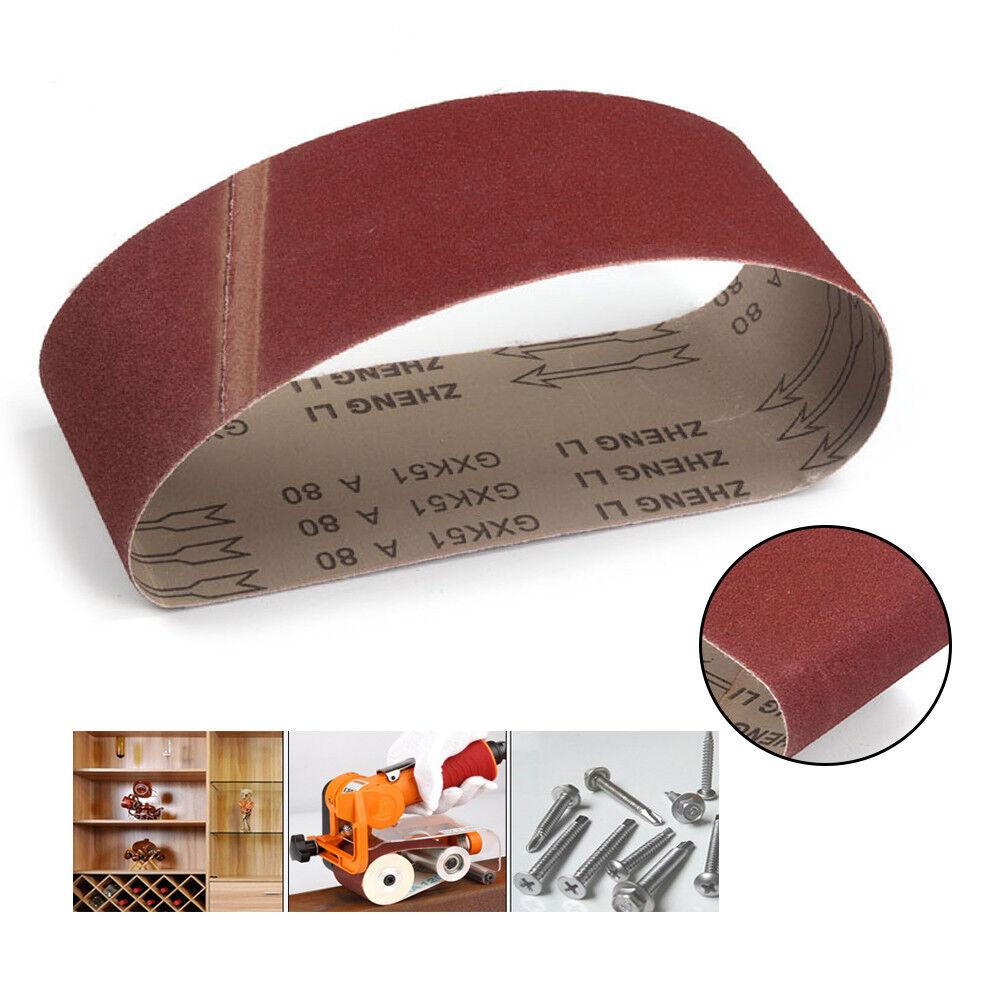 Sander Polishing Machine 610x100mm 180 Grit Abrasive Sanding Belt Sandpaper 5pcs