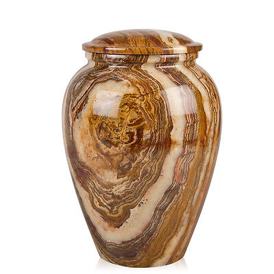 Perfect Memorials Medium Tiger Eye Marble Grecian Cremation Urn