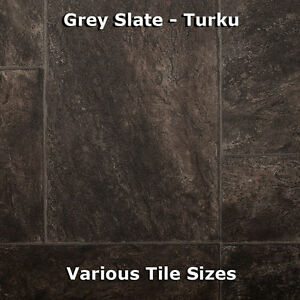 Tile effect flooring ebay for Cheap wood effect lino