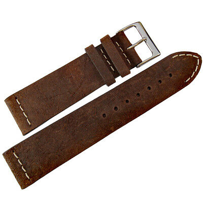 18mm ColaReb Italy Spoleto Dark Brown Distressed Leather Watch Band Strap Dark Brown Leather Band