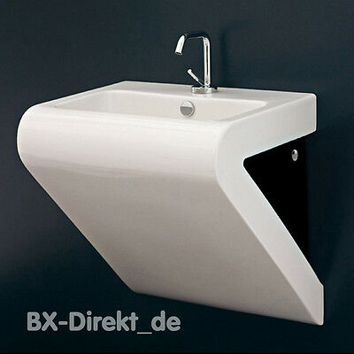 Designer Waschbecken weiss schwarz Waschtisch in Dreieckform dreieckig LaFontana