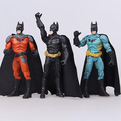 Justice League Batman Arkham Knight Comics Hero 3 PCS Action Figure Doll Toy