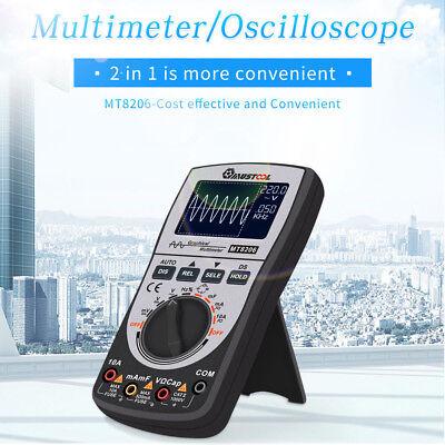 2 In 1 Upgraded Mustool Mt8206 Intelligent Digital Oscilloscope Multimeter Acdc