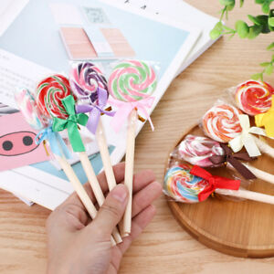4Pcs Cute Candy Style Lollipop Ballpoint Pen Student Office Stationery Gift