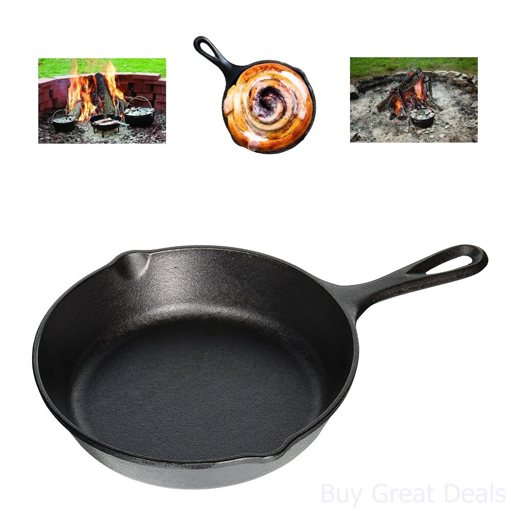 Lodge 8 Inch Cast Iron Skillet. Small Pre-Seasoned Skillet f