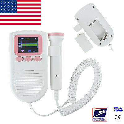Pocket Baby Sound Fetal Doppler 2mhz Probe Prenatal Baby Heart Monitor Ce Sale