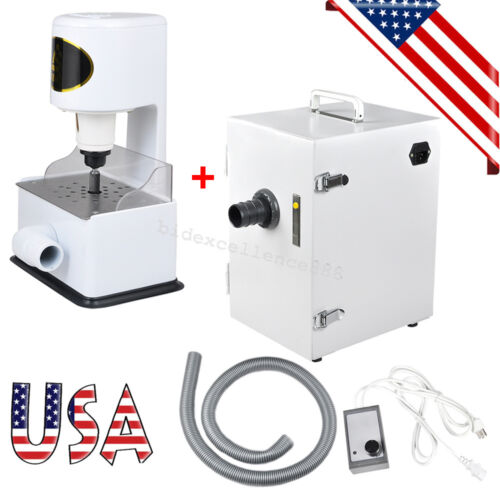 USA Dental Lab Grind Inner Model Trimmer Trimming +Dust Collector Vacuum Cleaner