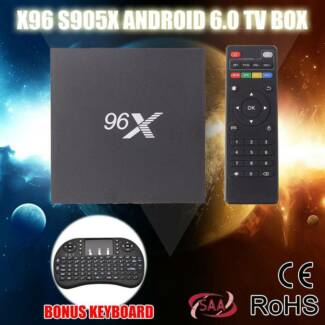 X96 4K KODI  TV BOX Android 6.0 S905X Quad Core +keyboard