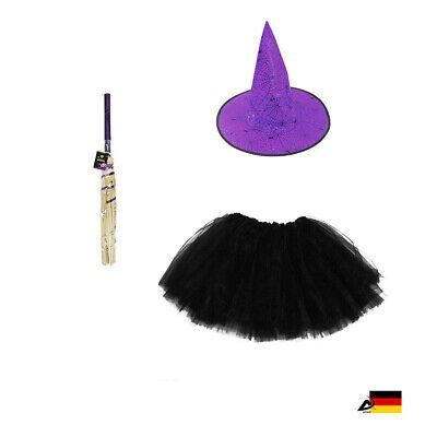 HEXE KOSTÜM BESEN HUT Kinder Hexenzubehör Erwachsene Halloween - Kinder Halloween Zubehör
