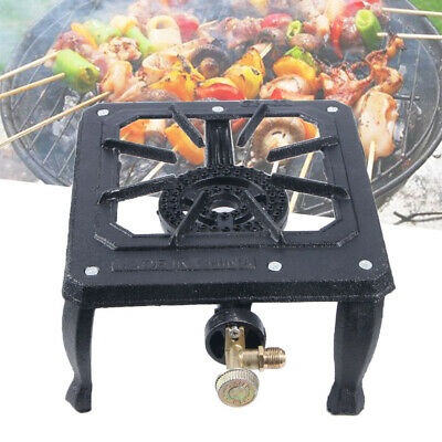 Single Portable Burner Cast Iron Propane LPG Gas Stove Outdoor Camping Cooker