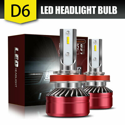 H11 H8 H9 LED Headlights Bulbs Kit High/Low Beam Bright 60W 13200LM 6500K