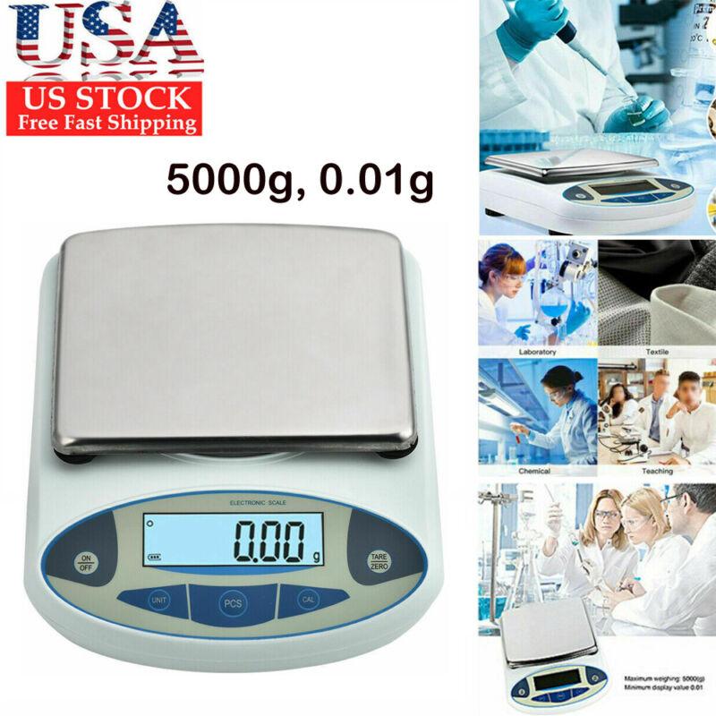 High Precision Lab Scale 5000g, 0.01g Analytical Balance Digital Precision Scale