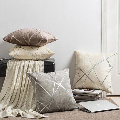 2Pcs Luxury Geometric Chenille Cushion Cover Decorative Pillow Covers Cases - Pcs Chenille