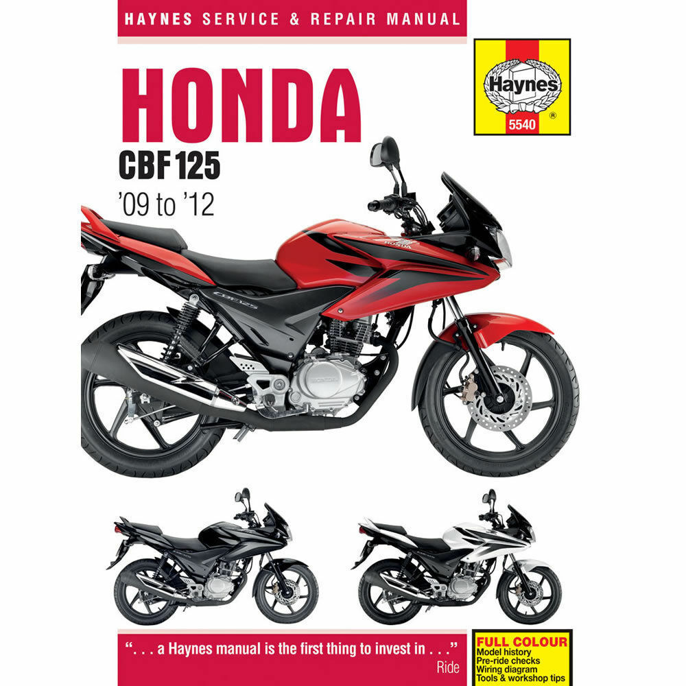 Haynes Manual Honda CBF125 2009-17 CB125F Workshop Manual
