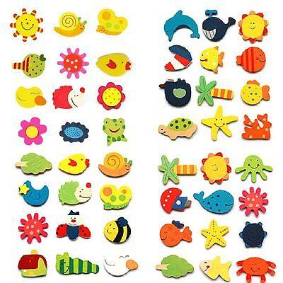 24pcs Fridge Magnet Wooden Cartoon Animals Novelty Cute Fun Colourful Kids - Cute Magnets