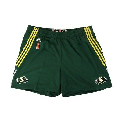 - Seattle Storm Adidas Authentic On-Court Team Issued WNBA Green Shorts Women's