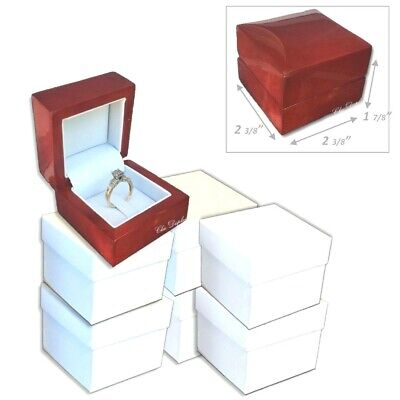 RING GIFT BOX CLIP RING BOXES ENGAGEMENT RING BOX JEWELRY DISPLAY BOXES BULK 12P