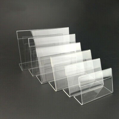 30pcs Acrylic Shelf Label Holder Price Tags Plastic Transparent Card For Shop
