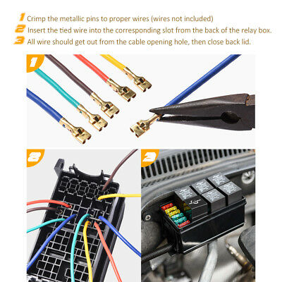 Universal Automotive Fuse Relay Holder 12 Slot Relay Box 6relays 6