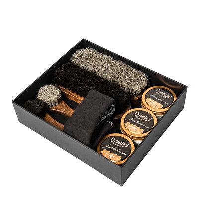 Set Completo per Pulizia Scarpe in Pelle Confezione Regalo - Prestige Box Lucidi