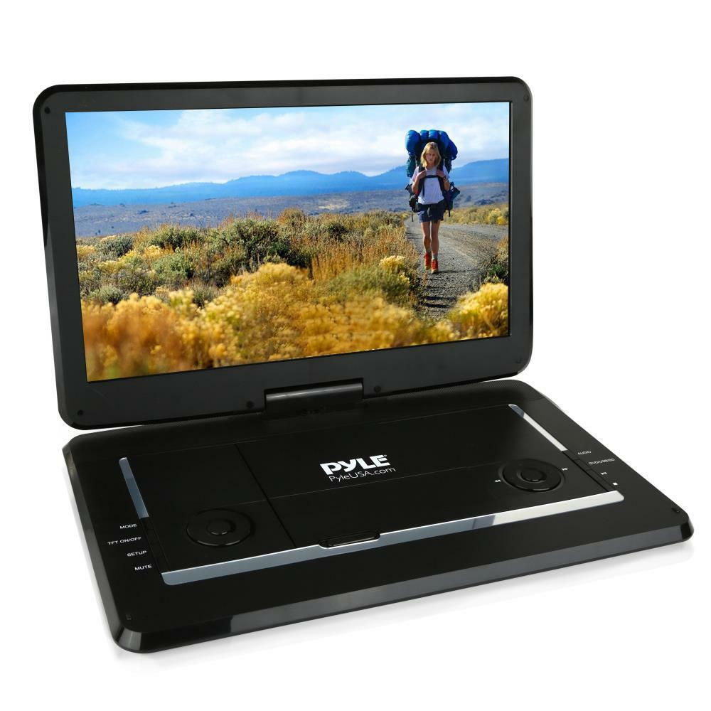 Portable DVD Player 15'' Pyle Multimedia Disc Player, HD