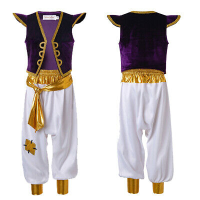Jungen Aladdin Kostüm Cosplay Prince Kleidung Set Halloween Alter 4-10 - Prince Junge Kostüm