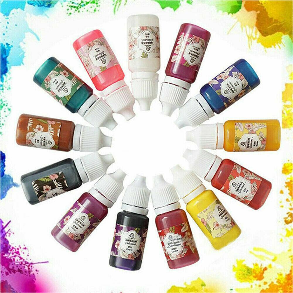 13 Bottles 10g Epoxy UV Resin Coloring Dye Colorant Pigment