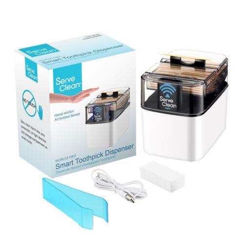 Serve Clean Smart Toothpick Dispenser - White