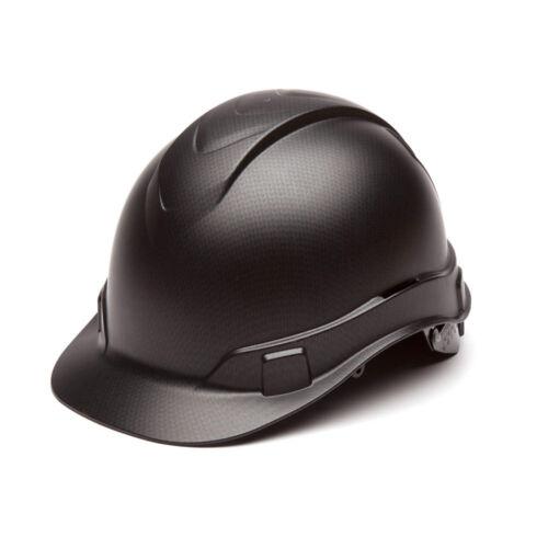 Pyramex HP44117 Ridgeline Graphite Cap Style Black Hard Hat W/4 Pt Ratchet Susp