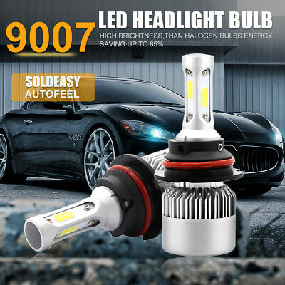 2x 9007 HB5 940W 141000LM CREE COB LED Headlight Kit Hi/Lo Power Bulbs 6500K HID