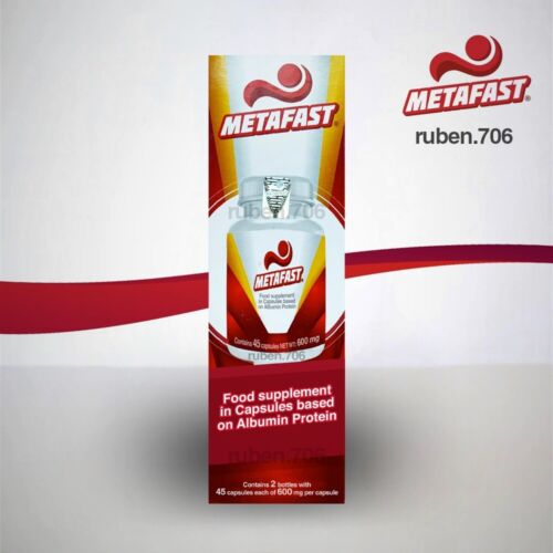 Metafast Meal Protein Substitute (egg albumin protein) Capsules **2 bottles**