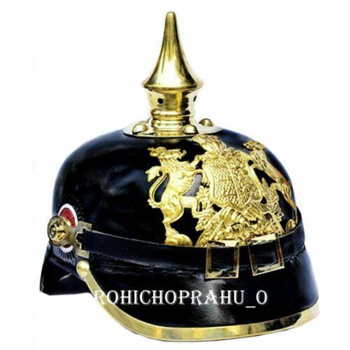 Collectible German Leather Pickelhaube Helmet Imperial Officer's Grade Prussian