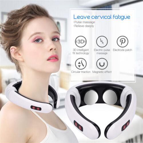Neck Massage Electric Massager Pulse Back Cervical Vertebra Instrument Treatment Health & Beauty