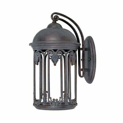 World Imports Dark Sky 9 in. Old Bronze Outdoor Wall Sconce