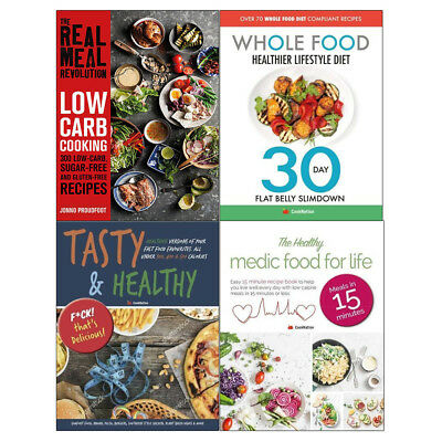 Tasty & Healthy Real Meal Revolution Whole Food Healthier 4 Books Collection NEW for sale  Shipping to South Africa