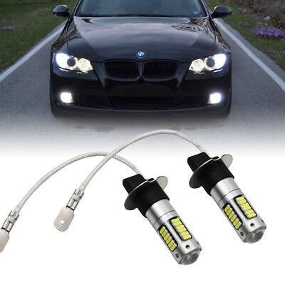 Fits Fog DRL Daytime Lights White Xenon Brightness 4014-SMD H3 LED Bulbs 1Pair