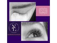 Classic Individual eyelash extensions, lvl lashlift