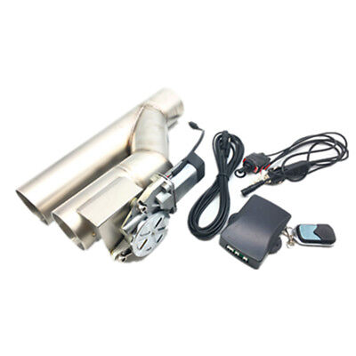 """2.5"""" 63MM ELECTRIC EXHAUST CATBACK DOWNPIPE CUTOUT VALVE SYSTEM+REMOTE CONTROL"""