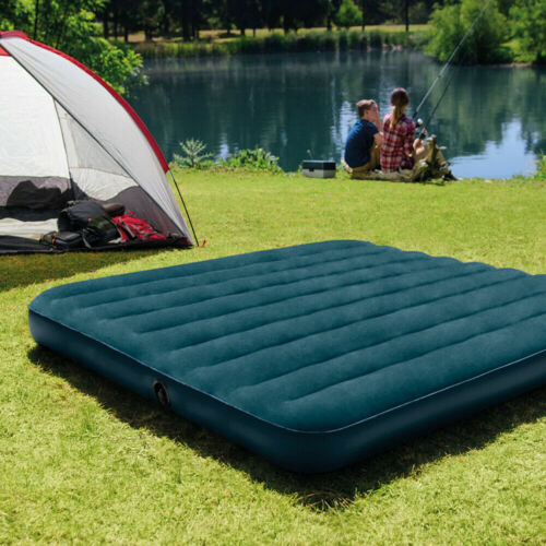 """Camping Mattress Inflatable Airbed Air Sleeping QUEEN Size 10"""" Dura Beam"""