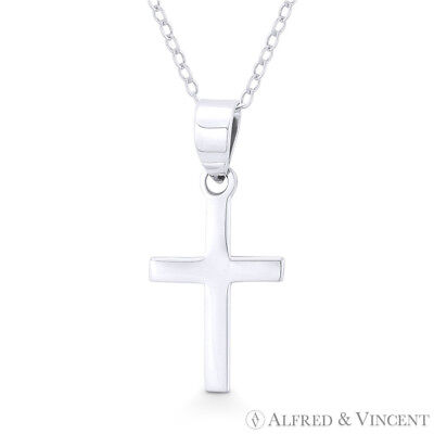 Latin Crucifix Catholic Christian Cross Necklace Pendant in .925 Sterling Silver