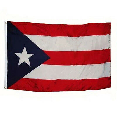 3x5 Puerto Rico Rican Dark Blue Weather Resistant Poly Flag 3x5' Banner Grommets