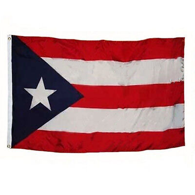 3x5 Puerto Rico Rican Dark Blue Weather Resistant Poly Flag
