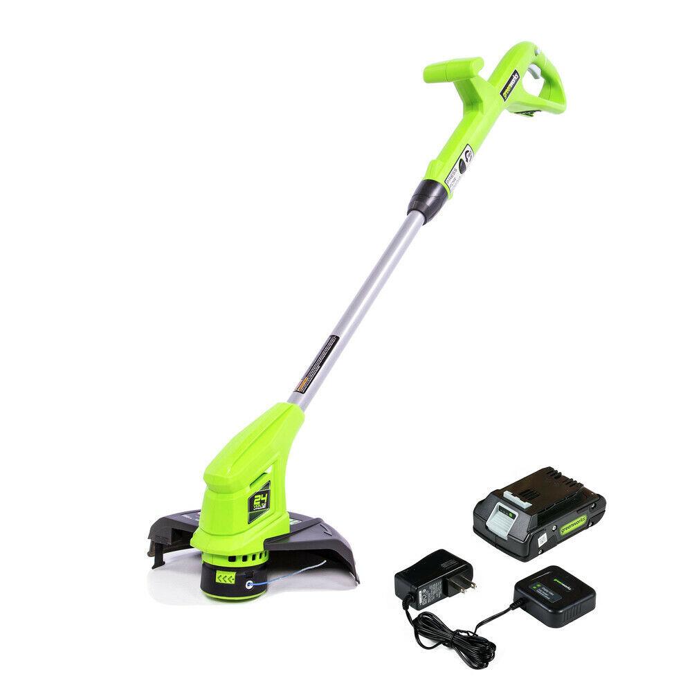 cordless grass trimmer electric 24v garden lawn