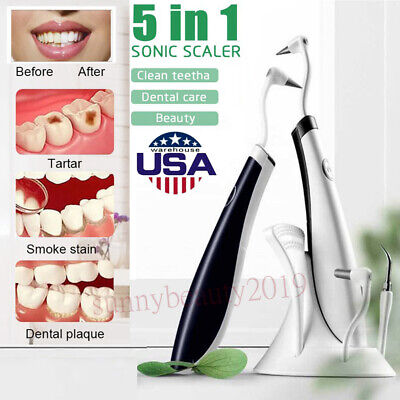 Electric Dental Scaler Tool Ultrasonic Tooth Stain Plaque Remove Teeth Whitening