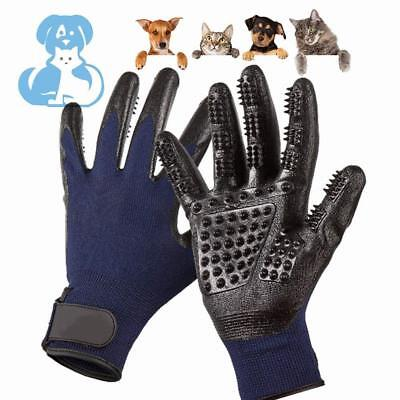 Pet Grooming Gloves Ninja Brush Work Hair Removal Cats Dogs Large Durable