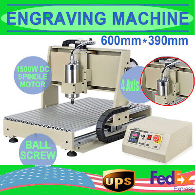Usb 4 Axis 6040 Cnc Router Engraver Milling Carving Engraving Machine 1.5kw Vfd