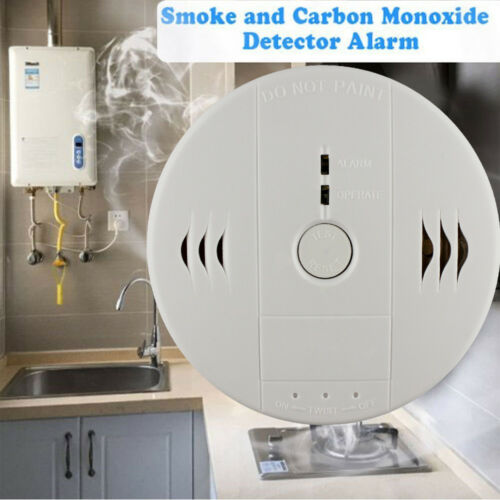 Smoke Alarm and CO Carbon Monoxide Detector Poisoning Gas Wa