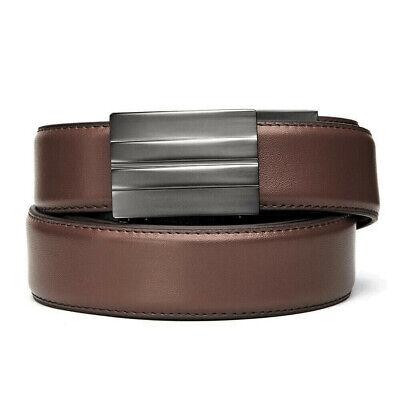 """KORE Essentials X2 Gunmetal Brown Leather Micro Adjust Gun Belt Size 24""""-44"""""""