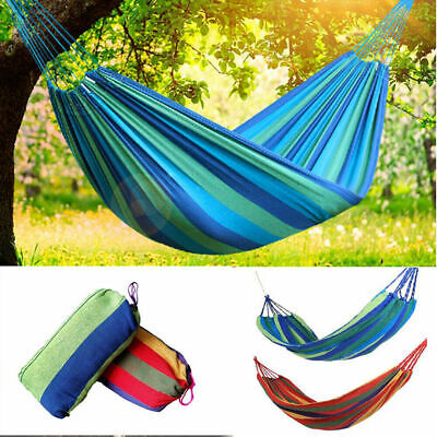 Hammock Portable Cotton Rope Outdoor Swing Fabric Camping Canvas Bed Bag 2 Color Cotton Bed Bag