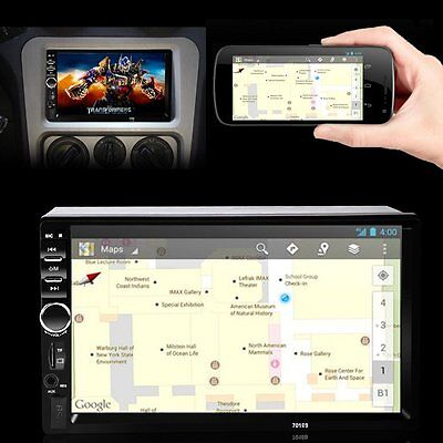 7'' 2 DIN Car Stereo Radio Bluetooth Touch Screen FM MP5 MP3 USB AUX Player Map